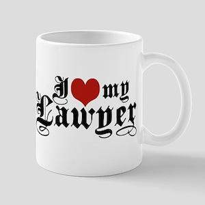 I Love My Lawyer Mug