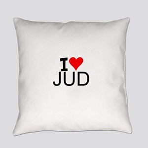 I Love Judo Everyday Pillow