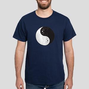 Yin Yang Cats Dark T-Shirt