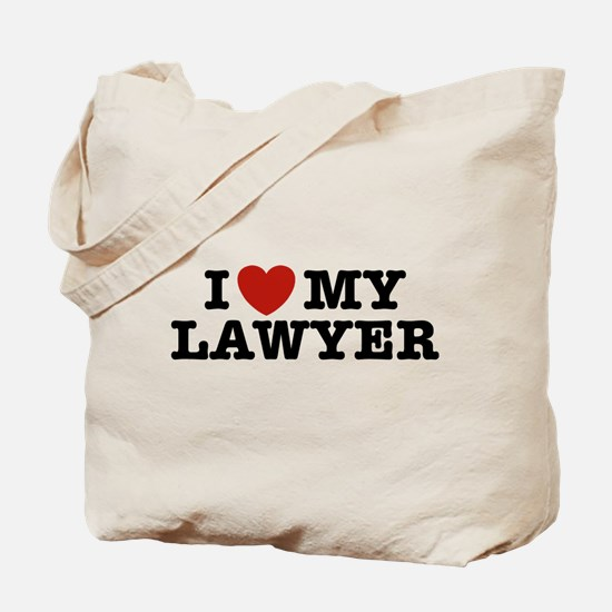I Love My Lawyer Tote Bag
