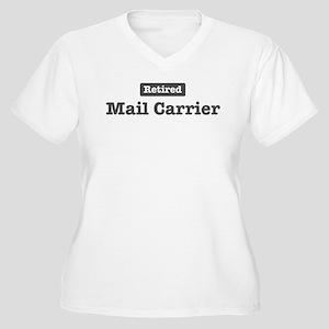 Retired Mail Carrier Women's Plus Size V-Neck T-Sh
