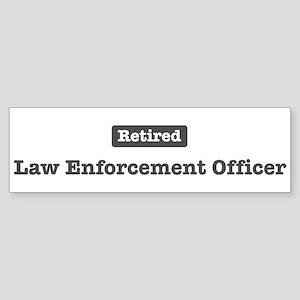 Retired Law Enforcement Offic Sticker (Bumper 10 p