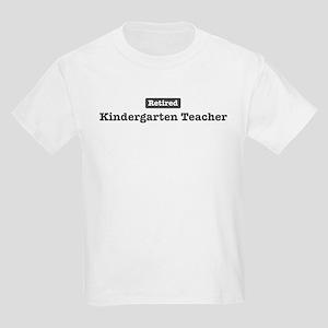 Retired Kindergarten Teacher Kids Light T-Shirt