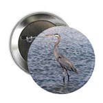 "Blue Heron Water 2.25"" Button"
