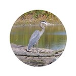 "Blue Heron 3.5"" Button"