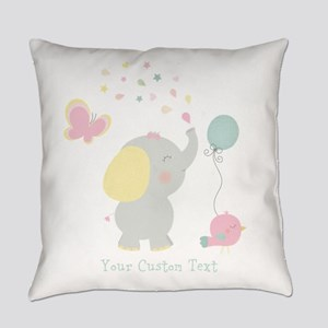 Elephant Parade Personalized Everyday Pillow