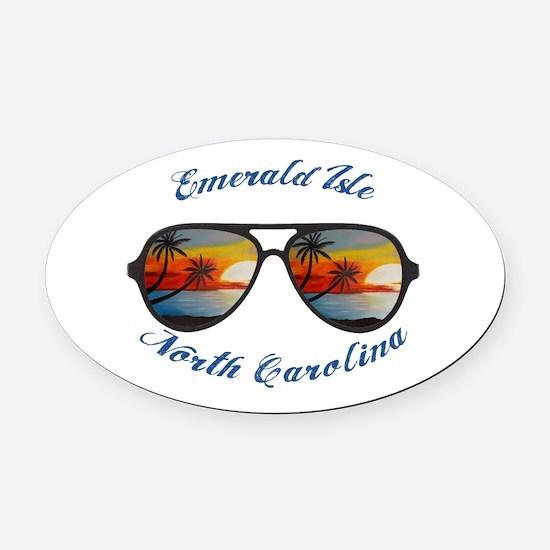 North Carolina - Emerald Isle Oval Car Magnet
