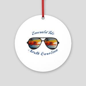 North Carolina - Emerald Isle Round Ornament