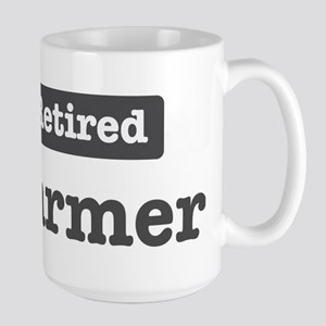 Retired Farmer Large Mug