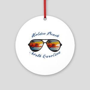 North Carolina - Holden Beach Round Ornament