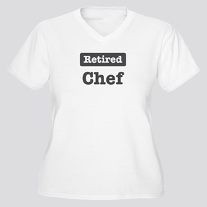 Retired Chef Women's Plus Size V-Neck T-Shirt