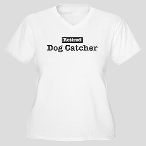 Retired Dog Catcher Women's Plus Size V-Neck T-Shi
