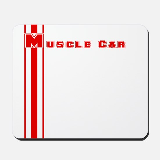 Retro Muscle car stripe-red- Mousepad