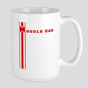 Retro Muscle car stripe-red- Large Mug