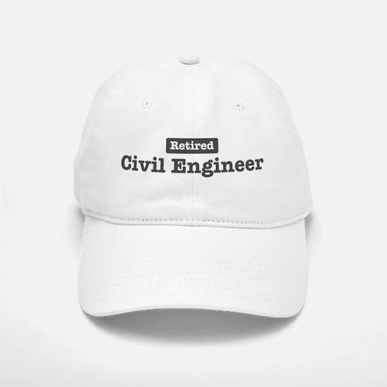 Retired Civil Engineer Baseball Baseball Cap