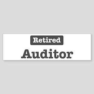 Retired Auditor Bumper Sticker