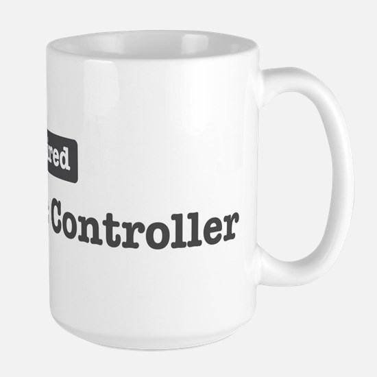 Retired Air Traffic Controlle Large Mug