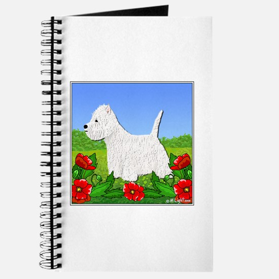 Westie Among the Flowers Journal