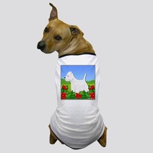 Westie Among the Flowers Dog T-Shirt