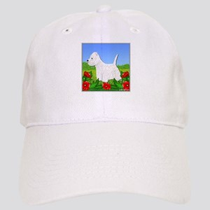Westie Among the Flowers Cap