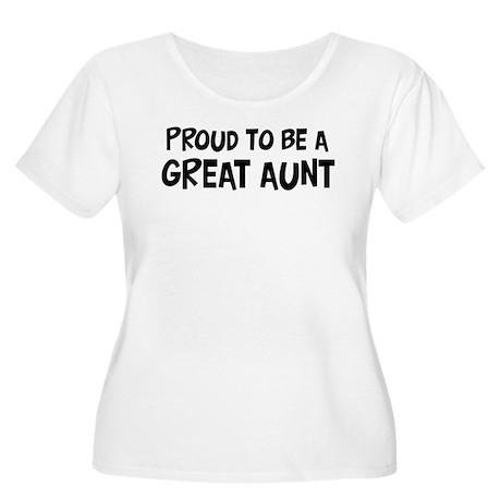 Proud to be Great Aunt Women's Plus Size Scoop Nec