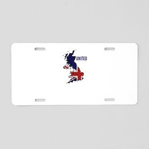 United Kingdom Of Great Bri Aluminum License Plate