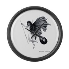8 Ball Angel Large Wall Clock