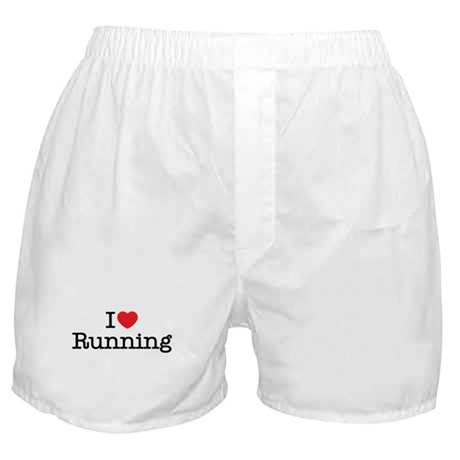 I Love Running Boxer Shorts
