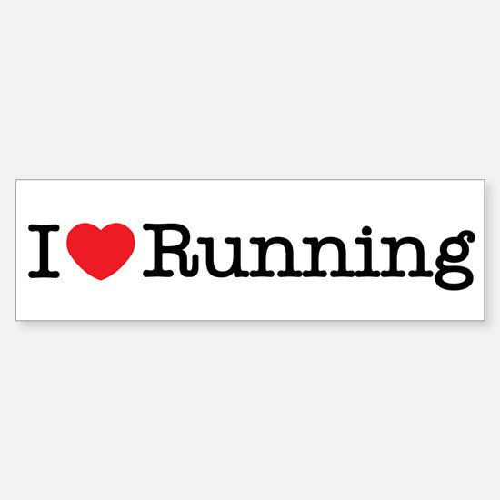 I Love Running Bumper Bumper Bumper Sticker