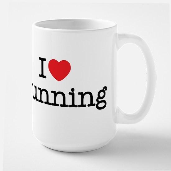 I Love Running Large Mug