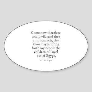 EXODUS 3:10 Oval Sticker