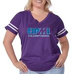 Pminj Women's Plus Size Football T-Shirt