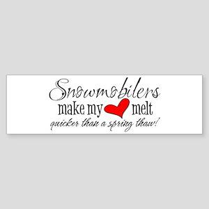Heart Melt Bumper Sticker