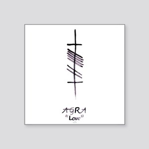 Love in Ogham Script Sticker