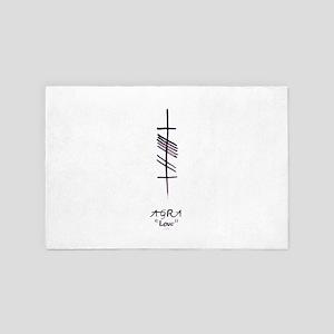 Love in Ogham Script 4' x 6' Rug