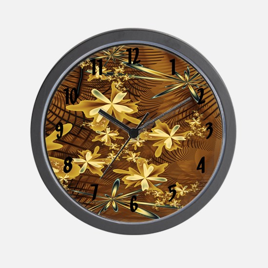 Abstract Flower Trappings Wall Clock