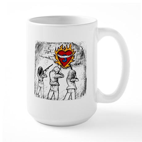 Flaming Heart - Large Mug