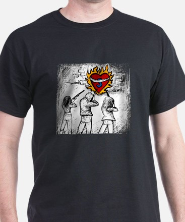 Flaming Heart - T-Shirt