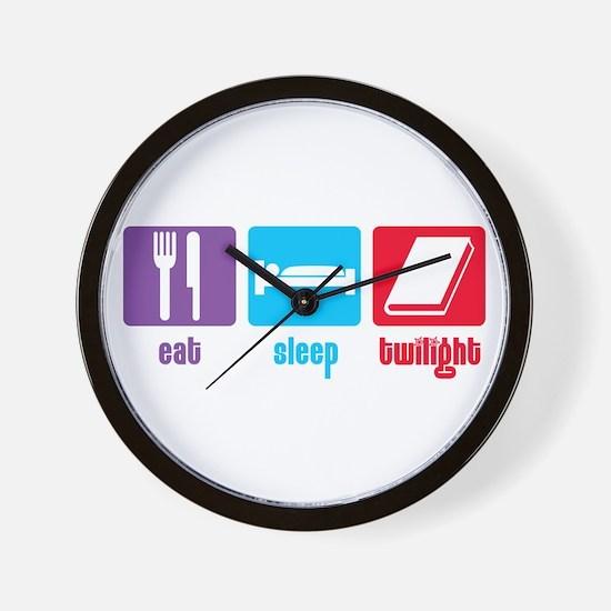 Eat Sleep Twilight Wall Clock