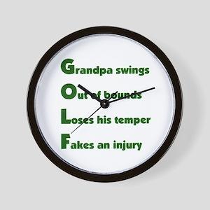 Grandpa Golf 2 Wall Clock