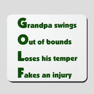 Grandpa Golf 2 Mousepad
