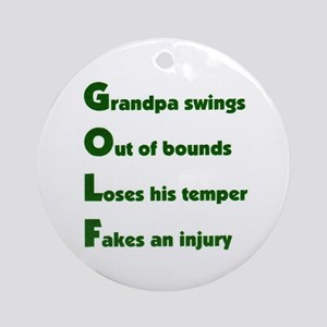 Grandpa Golf 2 Ornament (Round)