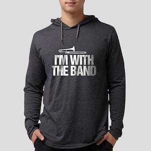 Trombone Humor Mens Hooded Shirt