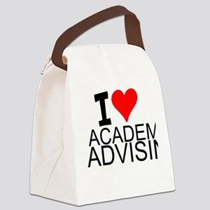 I Love Academic Advising Canvas Lunch Bag