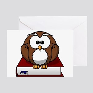 Scholarly Owl Greeting Card