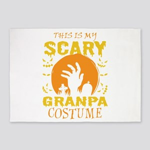 This Is My Scary Granpa Costume Hal 5'x7'Area Rug