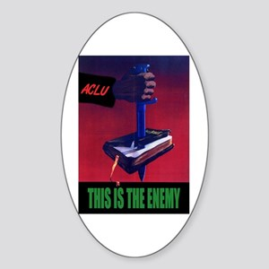 This is the Enemy Oval Sticker