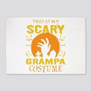 This Is My Scary Grampa Costume Hal 5'x7'Area Rug