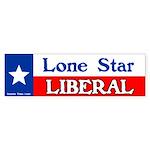 Lone Star Liberal Bumper Sticker