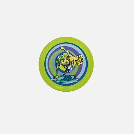 Scuba Zombie Kid Mini Button